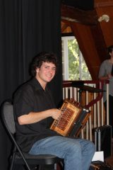 L'accordéoniste virtuose Alexandre Boivin-Caron. Photo : Jean-François Blanchette