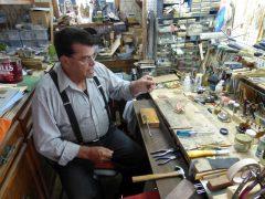 Marcel Messervier dans son atelier de Montmagny. Photo Bernard Genest, juillet 2015