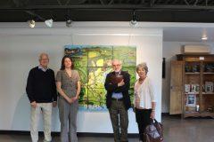 L'équipe lors d'une rencontre de préparation. Jean-François Blanchette, Johanne Saint-Gelais, Bernard Genest et Louise Décarie
