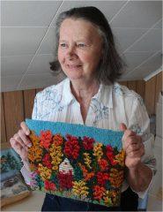 Claire Thibault, crocheteuse (Pointe-au-Pic)